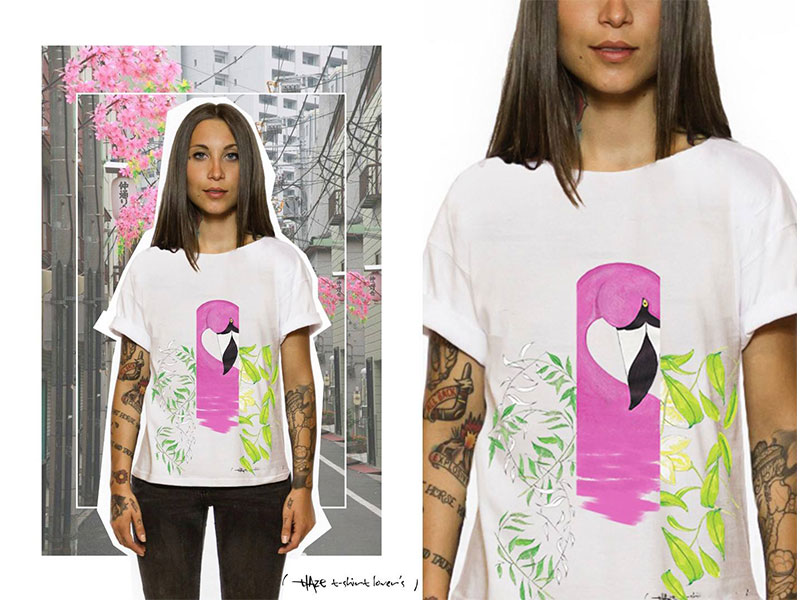 Blaze T-shirt lovers: moda e pittura si fondono in un connubio perfetto