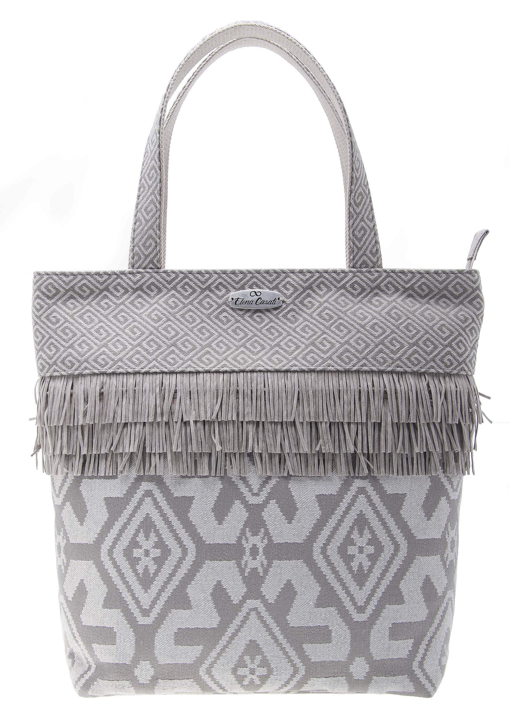 7-Shopping Bag Frange Beige DAV