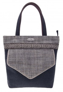 9-Shopping Bag Antracite con Tasca DAV
