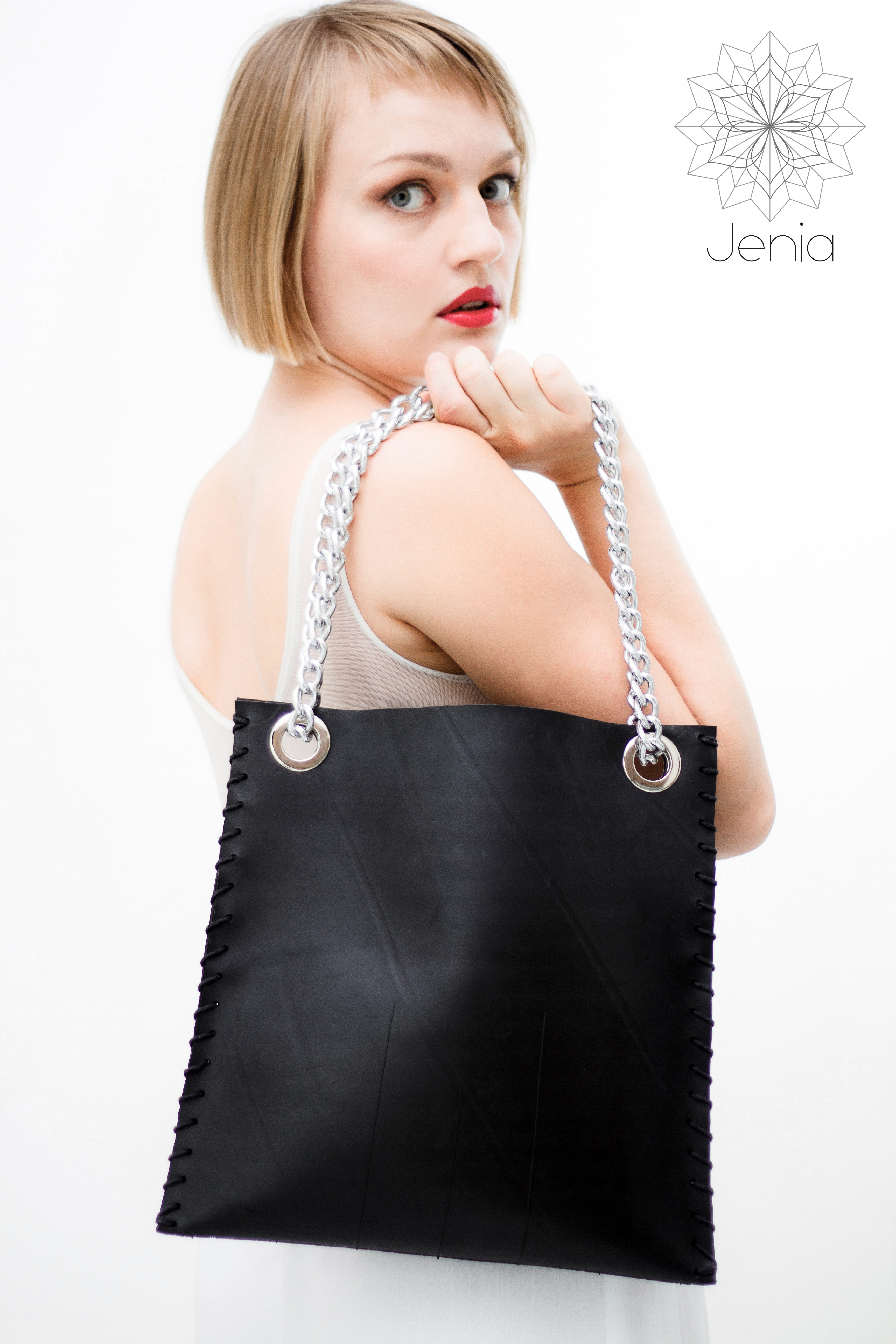 Upcycled  collection . Malevich bag . Jenia Design